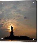 Hudson River 4 Lady Liberty Acrylic Print