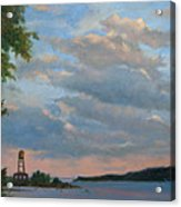 Hudson River Skyscape  Acrylic Print