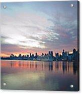 Hudson River Sunrise Nyc Acrylic Print