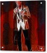 Huey Lewis-fractal Acrylic Print