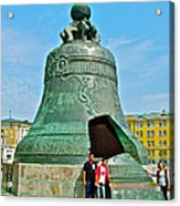 Huge Bell That Cracked In A Pit Inside Kremlin Walls In Moscow-r Acrylic Print