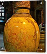 Huge Marble Jar Cut From One Piece Of Marble In Saint Sophia's I Acrylic Print