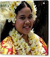 Hula Girl Acrylic Print