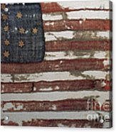 Hulbert Flag Early Us Flag 1776 Acrylic Print by Photo Researchers