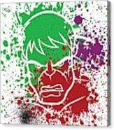 Hulk Goes Splat Acrylic Print