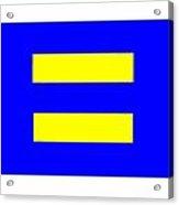 Human Rights Equality Flag Acrylic Print