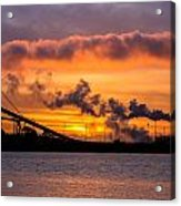 Humboldt Bay Industry At Sunset Acrylic Print