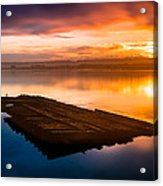 Humboldt Bay Spring Sunrise Acrylic Print