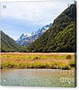Humboldt Mountains Seen From Routeburn Track Nz Acrylic Print