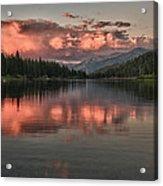 Hume Lake Sunset Acrylic Print
