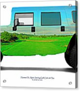Hummer H1 Alpha Stirling Golf Club 6th Tee Acrylic Print