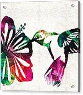 Hummingbird Art - Tropical Chorus - By Sharon Cummings Acrylic Print