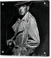 Humphrey Bogart - Pencil Acrylic Print