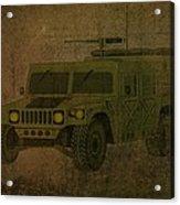 Humvee Midnight Desert  Acrylic Print