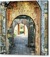 Hung Temple Arches Acrylic Print