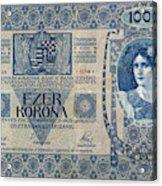 Hungary Banknote, 1902 Acrylic Print