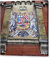 Hungary Coat Of Arms In Budapest Acrylic Print