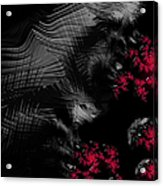 Hunger - Dark And Blood Red Fractal Art Acrylic Print