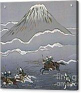 Hunt At Mount Fuji Acrylic Print