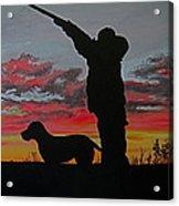 Hunting At Sunset Acrylic Print