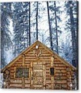 Hunting Cabin In Alberta Acrylic Print