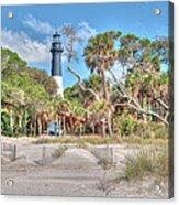Hunting Island - Beach View Acrylic Print