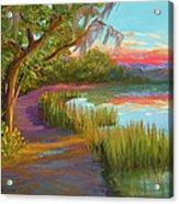 Hunting Island Sunset Acrylic Print