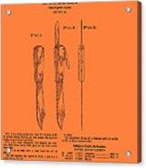 Hunting Knife Patent Acrylic Print