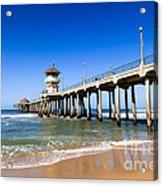 Huntington Beach Pier In Southern California Acrylic Print by Paul Velgos