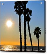 Huntington Beach Sunset Acrylic Print
