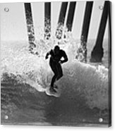 Huntington Beach Surfer Acrylic Print