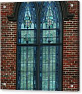 Stained Glass Arch Window Acrylic Print