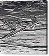 Hurricane Fighter Plane Relief Acrylic Print