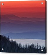 Hurricane Ridge Sunset Acrylic Print