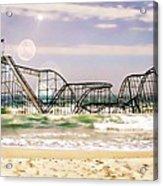 Hurricane Sandy Jetstar Roller Coaster Sun Glare Acrylic Print