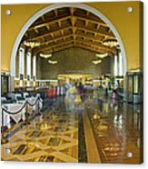 Hussel And Bussel At The Union Train Station Los Angeles Ca Acrylic Print