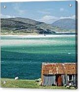Hut On West Coast Of Isle Acrylic Print by Rob Penn
