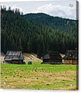 Huts In The Hills Acrylic Print