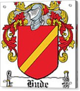 Hyde Coat Of Arms I Ireland Kilkenny Acrylic Print