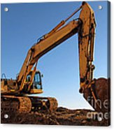 Hydraulic Excavator Acrylic Print