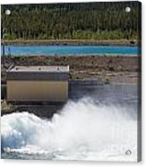 Hydro Power Station Dam Open Gate Spillway Water Acrylic Print