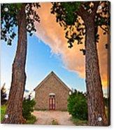 Hygiene Colorado Church Of The Brethren 1880 Sunset Acrylic Print
