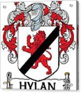 Hylan Coat Of Arms Irish Acrylic Print