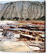 Hymen Terrace Yellowstone National Park Acrylic Print