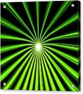 Hyperspace Electric Green Portrait Acrylic Print