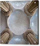 Hypostyle Room Ceiling In Park Guell Acrylic Print