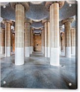 Hypostyle Room In Park Guell Acrylic Print