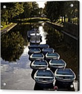Hythe Military Canal Kent Acrylic Print by Lesley Rigg