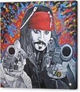 I Am Captain Jack Sparrow Acrylic Print