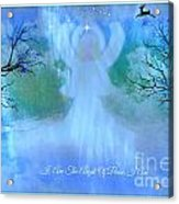 I Am The Angel Of Peace I Am Acrylic Print by Sherri's Of Palm Springs